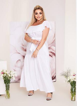 Длинное белое платье, белый сарафан