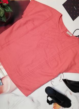 Блуза оверсайз paraphrase, лен, размер 18/44