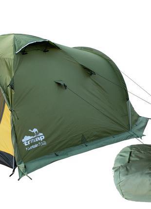 Палатка Tramp Mountain 3 м, TRT-023-green. Палатка туристическ...