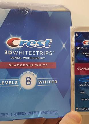 Crest 3d white whitestrips glamorous white - оригинальные отбе...