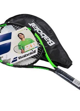 Ракетка для большого тенниса Babolat Pro зеленая, длина 25 дюй...