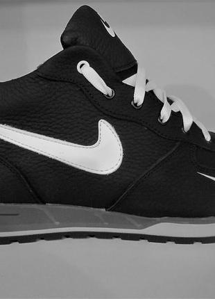 Мужские кожаные зимние ботинки/кроссовки nice