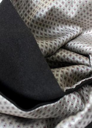 Мужской двусторонний  шарф mailando шелк+теплый текстиль