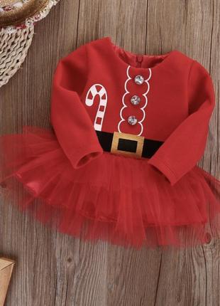 Платье пачка фатин новогоднее