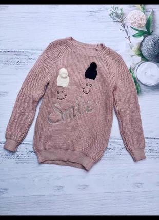 """Свитер """"smile """". женский свитер. свитер вязаный"""