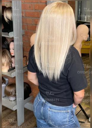 4️⃣0️⃣cm Парик Перука Система Волосы Наращивание Волос Осветление