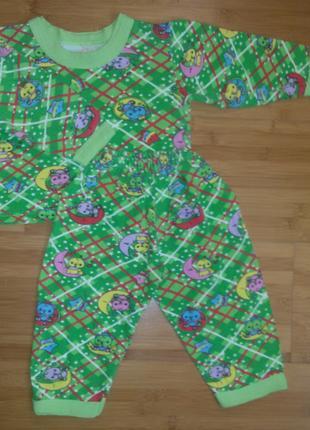 Пижаму детскую теплую с начесиком внутри, 80-86