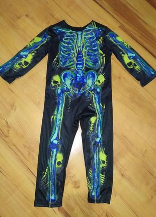 Карнавальный костюм на хэллоуин скелет на 3-4 годика