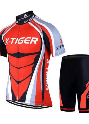 Вело джерси для мужчин X-Тiger QT/T1616 короткий рукав, шорты