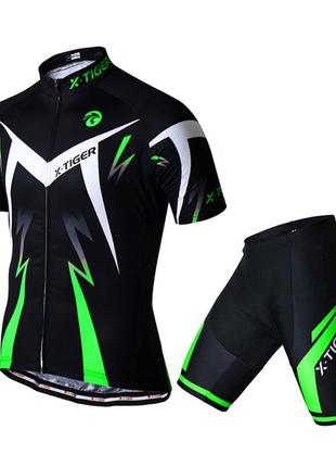 Вело костюм для мужчин X-Тiger XM-DT-01301 короткий рукав шорты