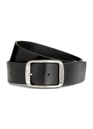 Чёрный кожаный ремень h&m premium quality !