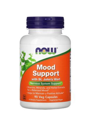 Поддержка нервной системы, Mood Support, Now Foods, 90 капсул