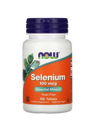 Now Foods, селен, 100 мкг, 100 таблеток