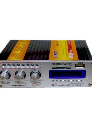 Hi-Fi усилитель в авто UKC VA-502R, USB SD CD FM MP3 плеер