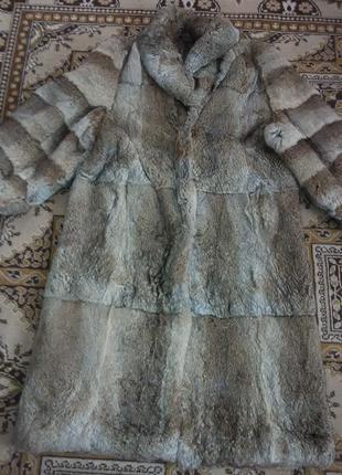 Длинная женская шуба заяц Чехословакия размер 54-56
