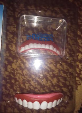 Виниры накладки на зубы комплект верхние и нижние