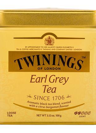 Чай Twinings Earl Grey черный листовой с ароматом бергамота 100г