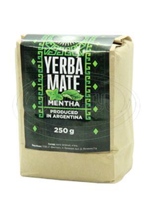 """Чай Мате фасований 250 г """"Menta"""" (з м'ятою) 100 г"""