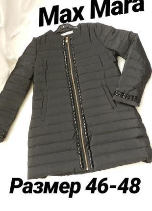 Пальто куртка с камнями стразами евро зима 46-48