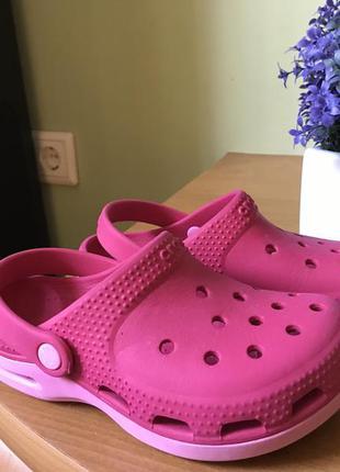 Сланцы crocs  для девочек