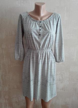 Удобное платье на резинке, набивное
