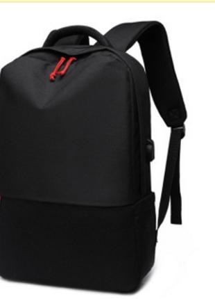 Рюкзак  черный оригинальной модели с USB