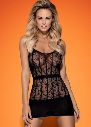 D605 dress obsessive сетка платье туника черная