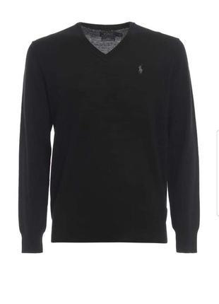 Кофта свитер пуловер 100% шесть мериноса polo ralph lauren