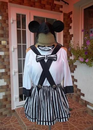 (5-7лет/рост 116 см ) мики маус костюм карнавальный  для девочки