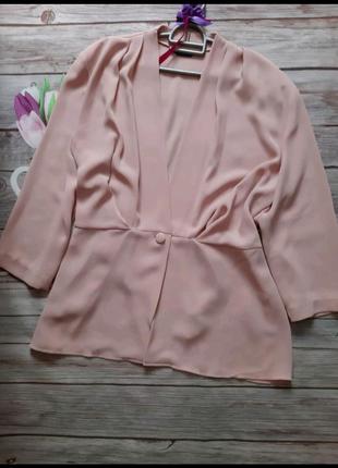 Стильный пиджак накидка батал