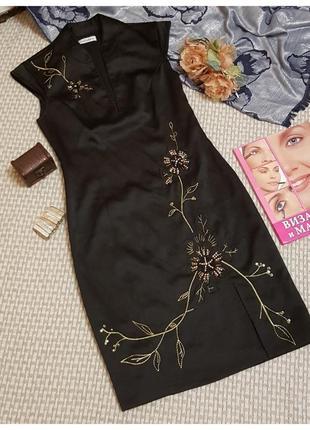 Платье футляр с вышивкой todayswoman