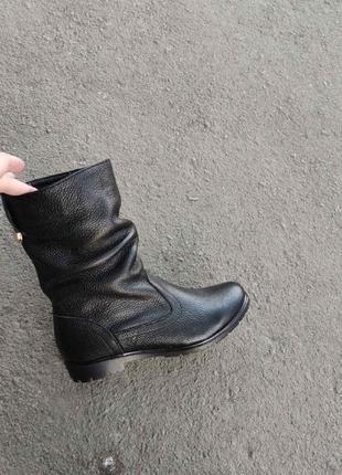 Зимние кожаные сапоги, ботинки, полусапожки 36, 37 размера на ...
