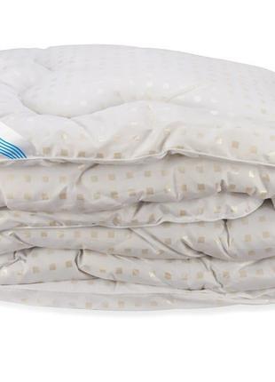 Одеяло Лебяжий Пух Leleka-Textile Евро 200х220 Белое в квадрат...