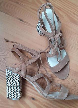Nine west босоножки, нарядные, устойчивый каблук, обувь из сша...