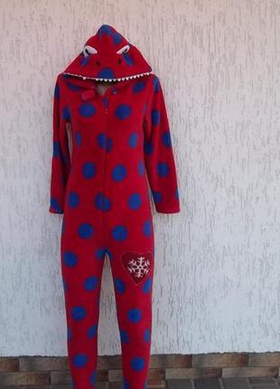 Essentials (11-12 лет)  флисовый толстый комбинезон пижама киг...