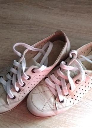 Кеды кроссовки, натуральная кожа