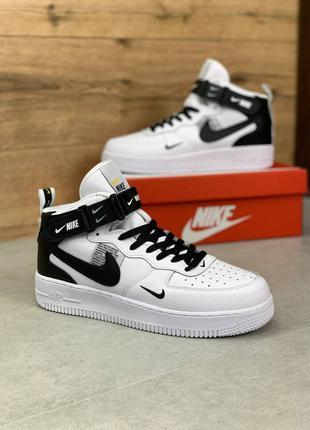 Nike Air Force 1 White/Black Найк аир форс 1 обувь