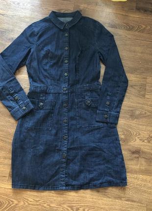 Платье - рубашка edc хлопок джинс