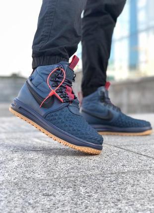 Мужские синие демисезонные ботинки nike lunar air force 1 duck...