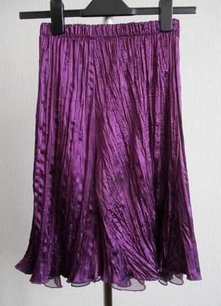 Атласная юбка плиссе katrina