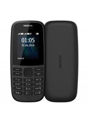 Мобильный телефон Nokia 105 SS 2019 Black (16KIGB01A13)