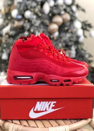 Шикарные мужские кроссовки nike air 95 sneakerboot red 😍 (зима)