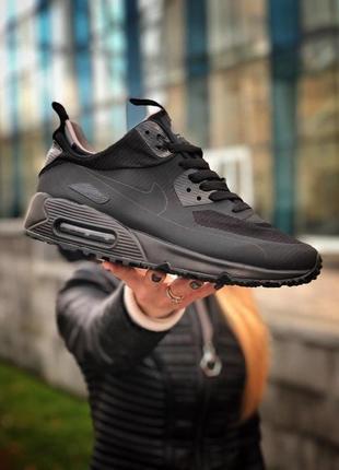 Шикарные мужские кроссовки nike air max ultra 90 winter black ...