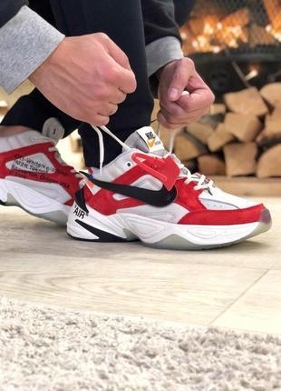 Шикарные мужские кроссовки nike m2k tekno red white 😍 (демисезон)