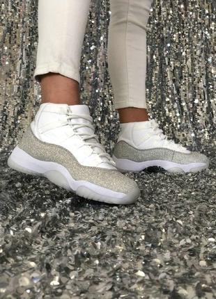 Nike air jordan 11 женские кроссовки из кожи