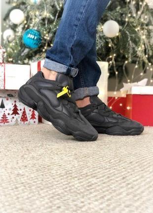 Adidas yeezy boost 500 winter black мужские зимние кроссовки н...