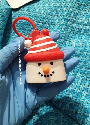 Холдер для антисептика bath and body works - снеговик