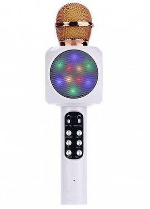 Беспроводной микрофон караоке с динамиком и цветомузыкой Ws-18...