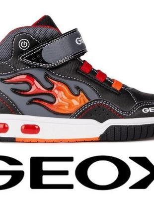 Оригинал- демисезонные ботинки с мигалками тм geox
