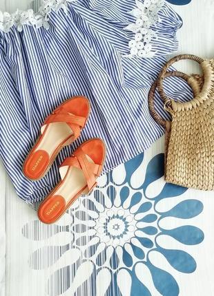 Оранжевые сандалии сандали босоножки эспадрильи с пряжками 36 ...
